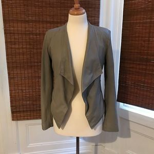 B.B. Dakota leather flyaway blazer